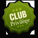 Inscrivez-vous au Club Privilege